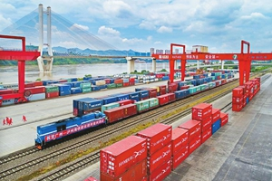 广州-泸州海铁联运班列实现双向开行